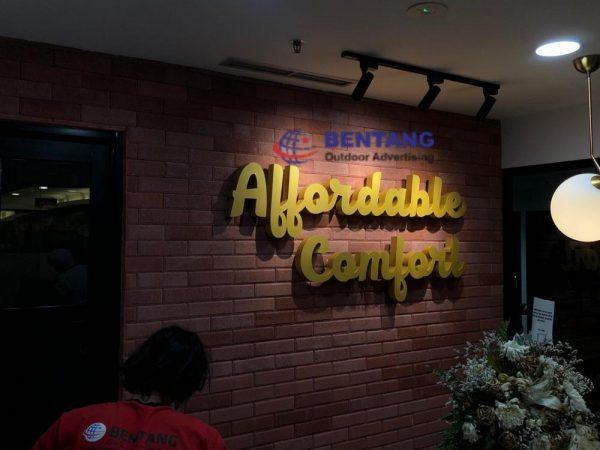 Pembuatan Huruf Timbul Tangerang Berkualitas Hanya di Bentang Advertising